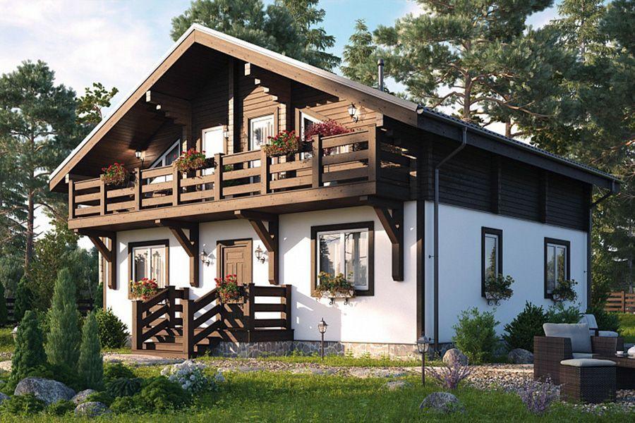 Красивые каркасные дома шале фото и проекты